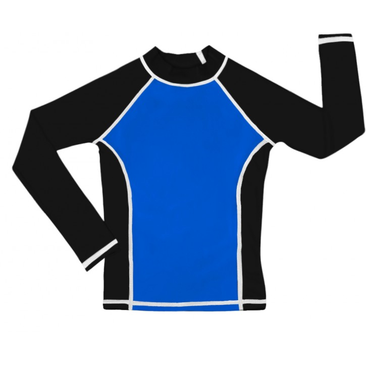 Blue /Black UV Long Sleeve Swim Shirt